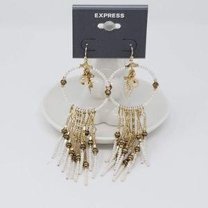 Express Seed Bead Dangle Earrings